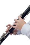 Игрок кларнета Стоковое Изображение