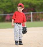игрок лиги бейсбола маленький Стоковая Фотография