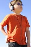 игрок мальчика Стоковые Изображения