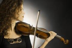 Игрок оркестра скрипки Стоковое Фото