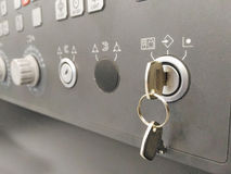 игрок панели управления управлением кнопок Стоковое Изображение RF