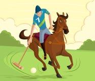 Игрок поло иллюстрация штока