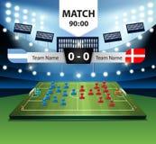Игрок плана футбольного поля вектора с табло бесплатная иллюстрация