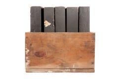 игрок рояля коробки старый свертывает древесину Стоковая Фотография RF