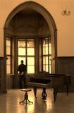 игрок рояля раздумья Стоковые Фотографии RF