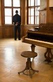 игрок рояля раздумья Стоковые Фото