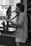 Игрок саксофона в улице Стоковое Фото