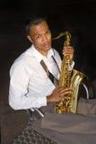 Игрок саксофона Стоковые Изображения RF