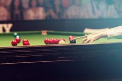 Игрок снукера Стоковая Фотография RF