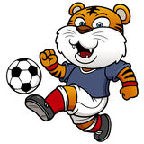 Игрок тигра футбола иллюстрация вектора