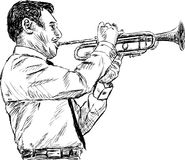 Игрок трубача Стоковое фото RF