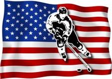 игрок хоккея США флага Стоковое Фото