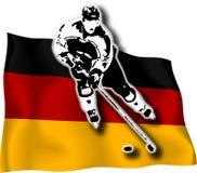 игрок хоккея флага немецкий Стоковая Фотография RF