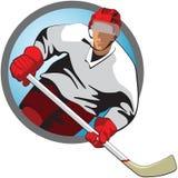 Игрок хоккея иллюстрация вектора