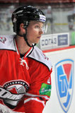 Игрок хоккея close-up стороны Стоковые Фотографии RF