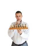 игрок шахмат стоковые изображения rf
