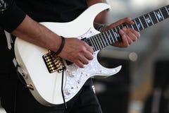 игрок электрической гитары Стоковое Изображение RF