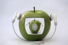 игрок яблока стоковое изображение rf