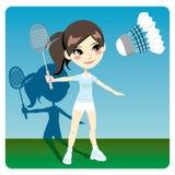 игрок badminton Стоковые Фотографии RF
