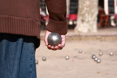 Игрок Boules Стоковое Изображение RF