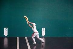 игрок Jai-alai стоковая фотография rf