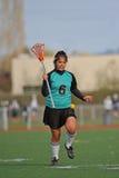 игрок lacrosse вверх по теплому Стоковые Фотографии RF