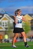 игрок lacrosse девушки Стоковые Фото