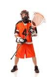 Игрок Lacrosse стоковые изображения rf