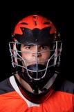 Игрок Lacrosse стоковая фотография rf