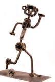 игрок metall футбола Стоковое Изображение