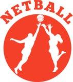 игрок netball шарика скача Стоковое фото RF