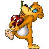 игрушечный вишни медведя Стоковые Изображения