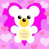 игрушечный влюбленности медведя i вы Иллюстрация вектора