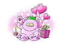 игрушечный влюбленности дня рождения медведя Стоковое Изображение
