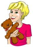 игрушечный девушки медведя Стоковое фото RF