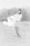 игрушечный девушки медведя Стоковое Изображение RF