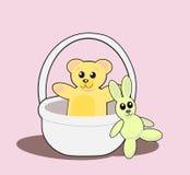 игрушечный кролика медведя иллюстрация штока