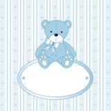 игрушечный мальчика медведя младенца Стоковые Изображения