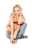 игрушечный медведя белокурый сь Стоковая Фотография