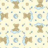 игрушечный медведя предпосылки безшовный Стоковые Изображения