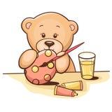 игрушечный пасхального яйца медведя иллюстрация штока