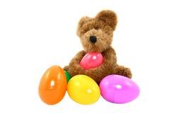 игрушечный пасхальныхя медведя цветастый Стоковая Фотография RF