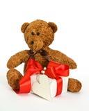 игрушечный подарка медведя Стоковое Изображение