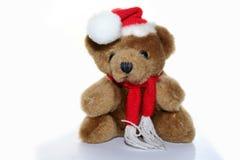 игрушечный рождества крышки медведя Стоковые Изображения