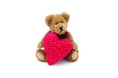 игрушечный сердца медведя Стоковое Фото