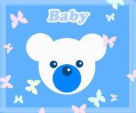 игрушечный сини медведя младенца Иллюстрация вектора