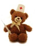 игрушечный сотрудника военно-медицинской службы медведя стоковое фото rf