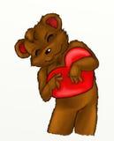 игрушечный удерживания сердца медведя Стоковые Фотографии RF