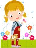 игрушечный девушки медведя Стоковые Изображения