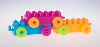 игрушка Автомобиль блока игрушки Автомобиль блока игрушки на предпосылке Стоковая Фотография